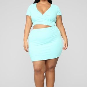 Fashion Nova Cross Out the Haters Skirt Set NWT